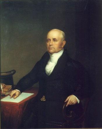 A portrait of Jacob Perkins.