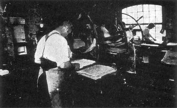 A photo of Perkins' British printing plant.