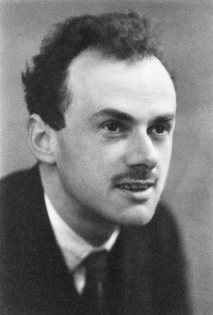 A photograph of Paul Dirac.