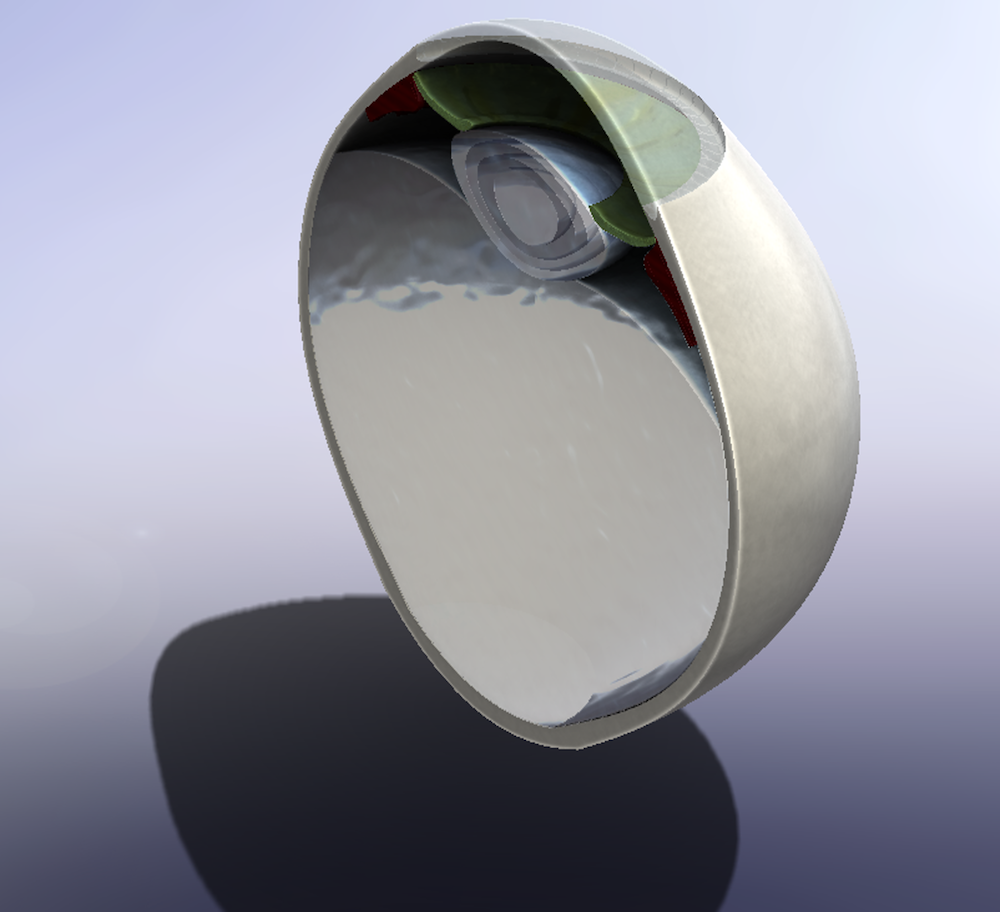 An image of a CAD model of an eye.