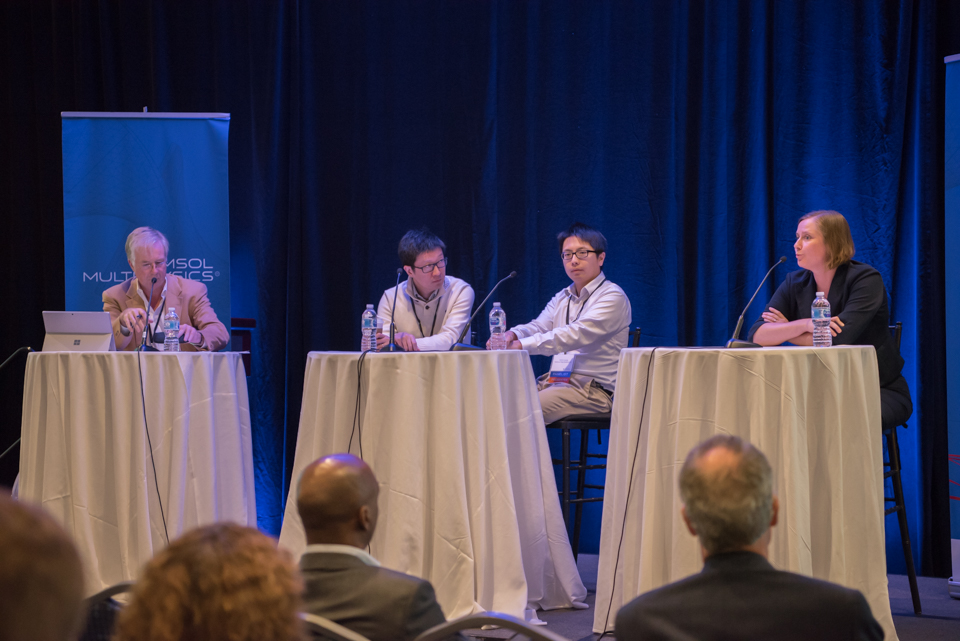 Panelists moderated by Jeff Crompton from AltaSim Technologies discuss the role of simulation in additive manufacturing