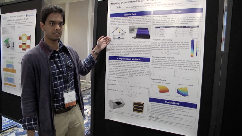 Shomik Verma discusses his award-winning research at the COMSOL Conference 2018 Boston.