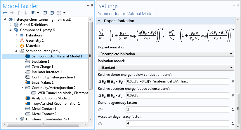 A screenshot showing how to access material properties in physics settings.