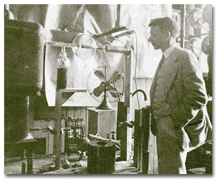 A photo of William Coolidge in a lab.