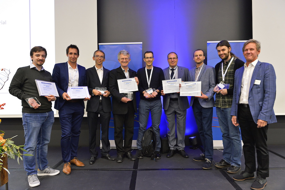 A photograph of some COMSOL Conference 2018 Lausanne award winners.