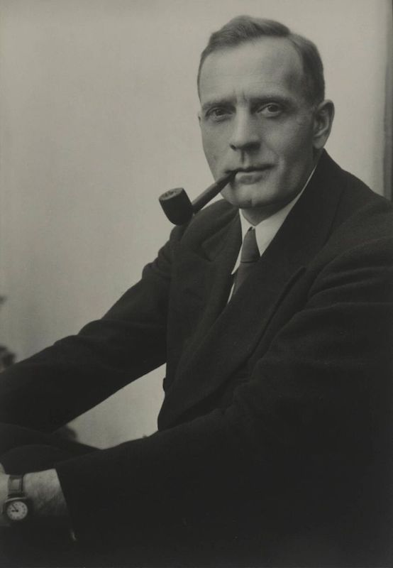 A photograph of Edwin Hubble.
