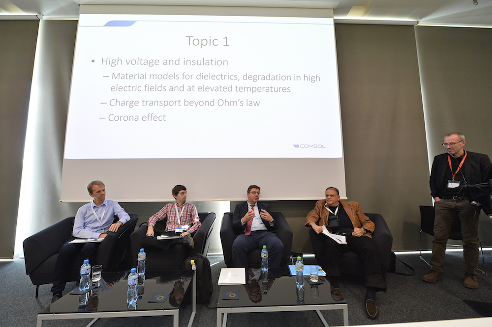 Panelists moderated by Prof. Jasmin Smajic of University of Applied Sciences in Rapperswil and Magnus Olsson of COMSOL discuss hot topics and current trends.