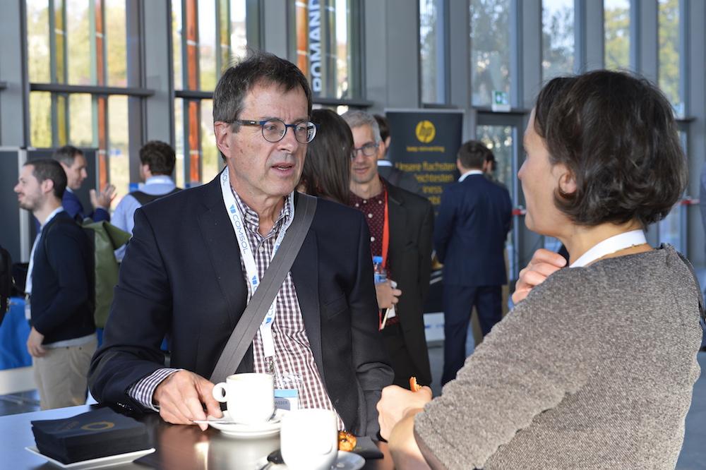 Academia meets industry: Benedikt Weber, EMPA, Switzerland, and Sigrid Andreae, Hilti AG, Liechtenstein.