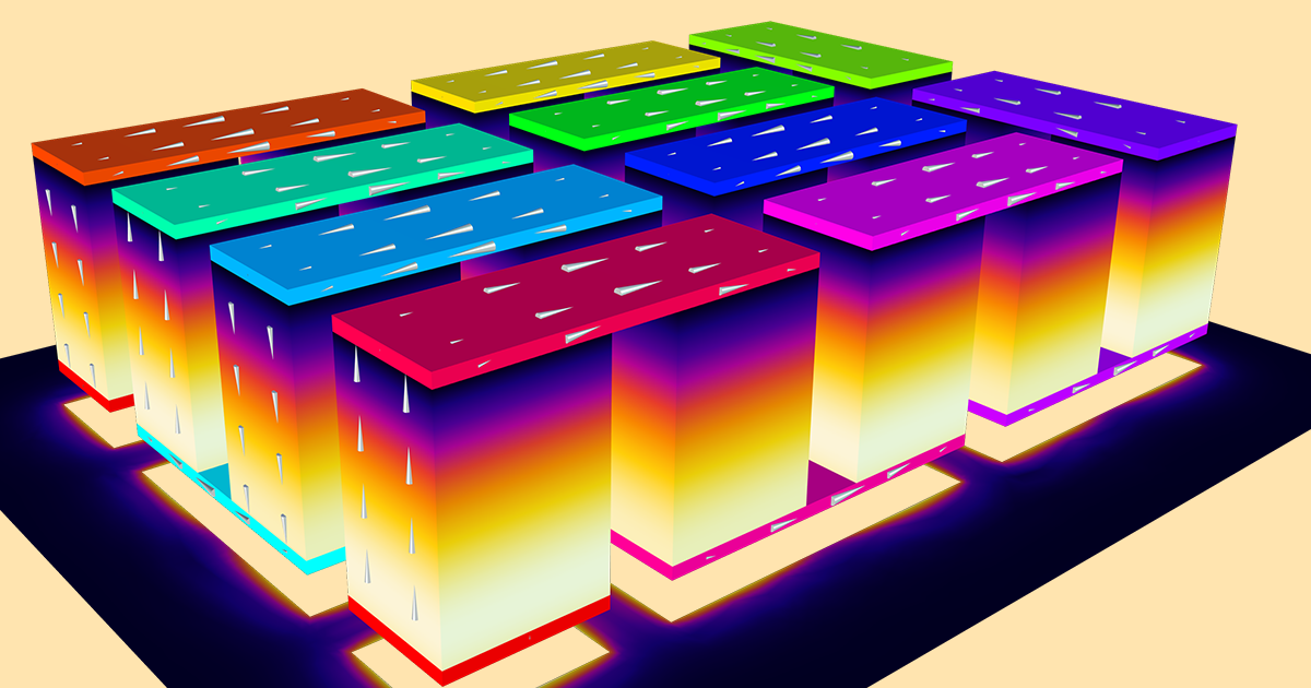 How To Analyze Thermoelectric Cooler Designs With A Comsol App Comsol Blog