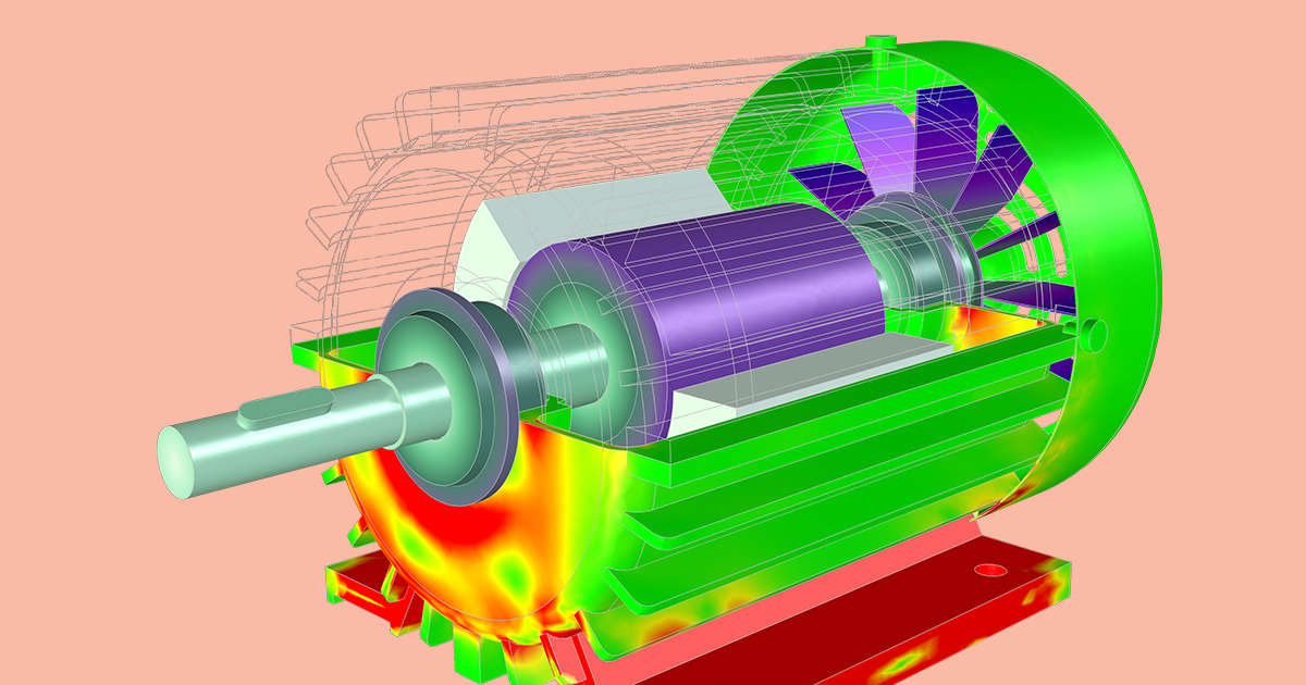 Analyzing The Structural Integrity Of An Induction Motor With Simulation