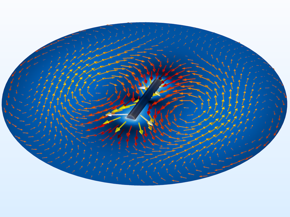The electric field norm at the maximum scattering angle.