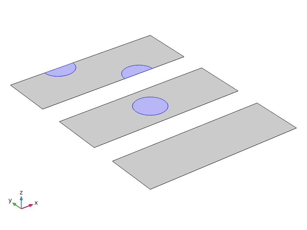 Schematic of a composite laminate that includes a delaminated region.