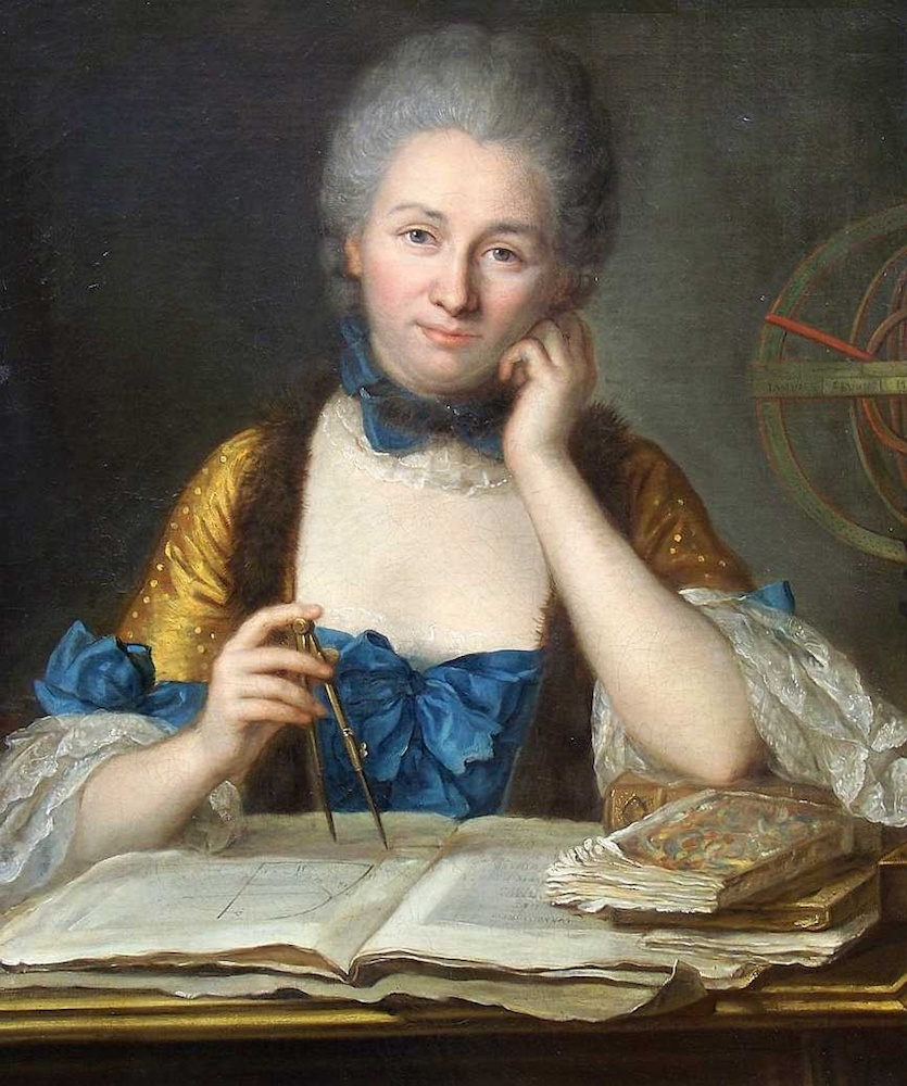 A portrait of Émilie du Châtelet.