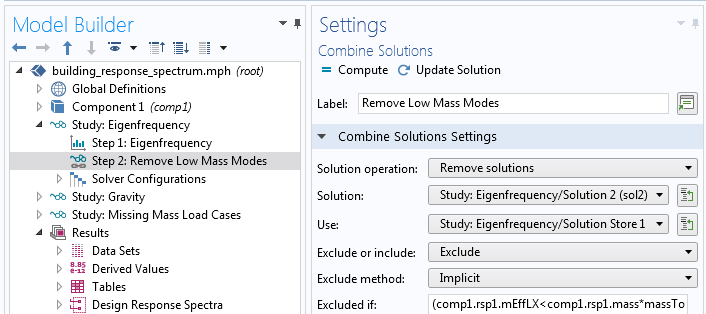 A screenshot of the settings for the Combine Solutions feature.