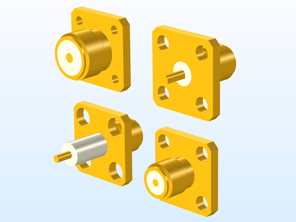 Different types of SMA connector models.