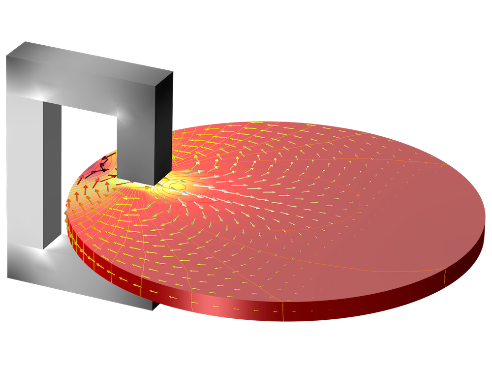 An eddy current braking simulation.