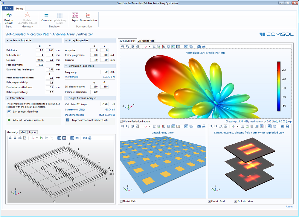 How to Synthesize the Radiation Pattern of an Antenna Array | COMSOL