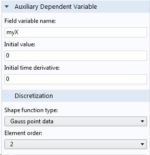 辅助因变量设置的屏幕截图。