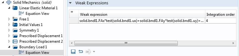 边界载荷特征弱表达式的屏幕截图。