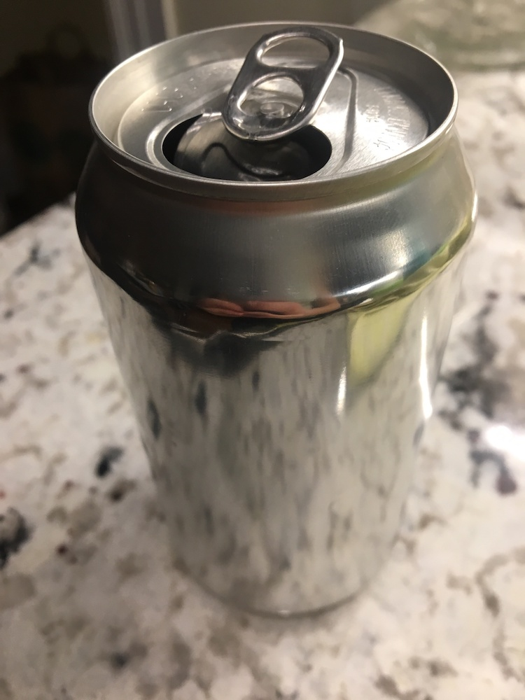 A photograph of a soda can.