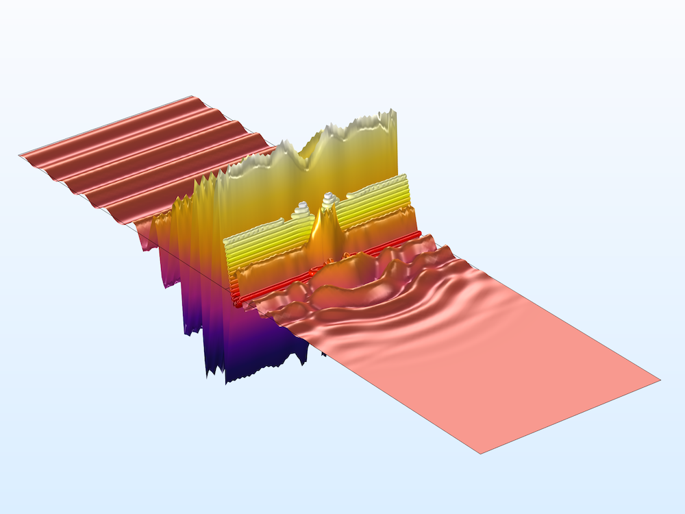 An image of an RF model that includes Drude-Lorentz media.