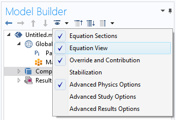 A screenshot of the Equation View feature set to enabled.