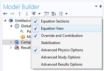 方程视图特征设置为启用的屏幕截图。