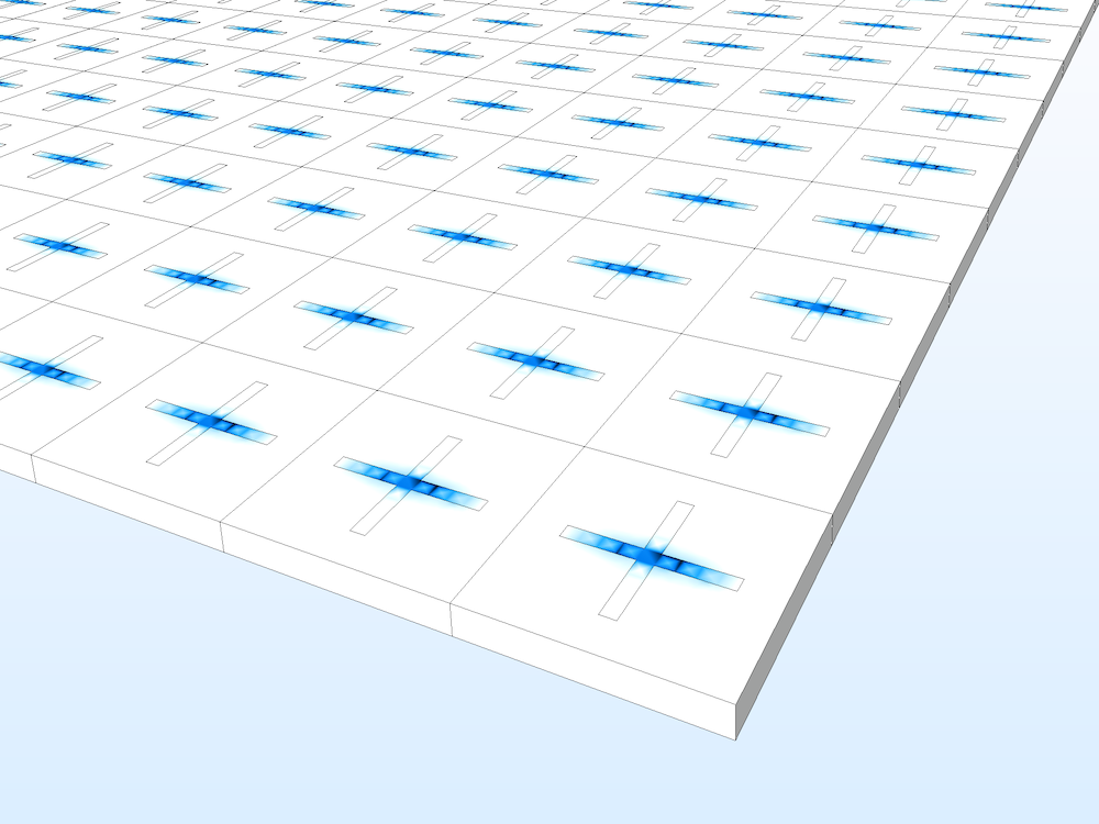 An image of results generated from a frequency selective surface application.
