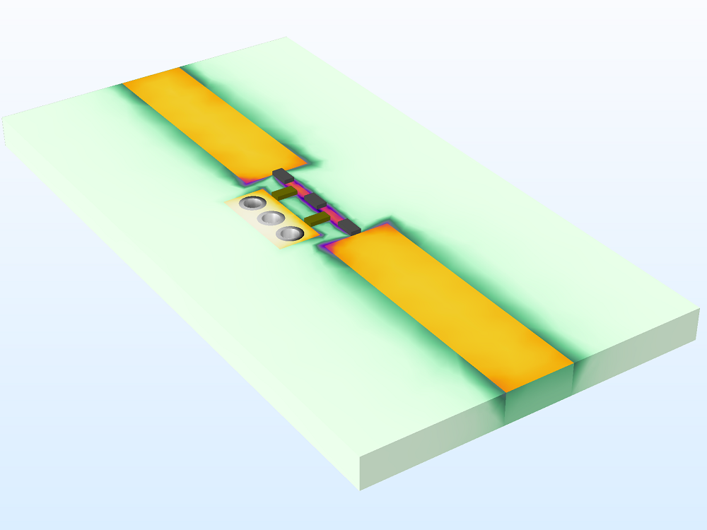 An image of a lumped element filter model.