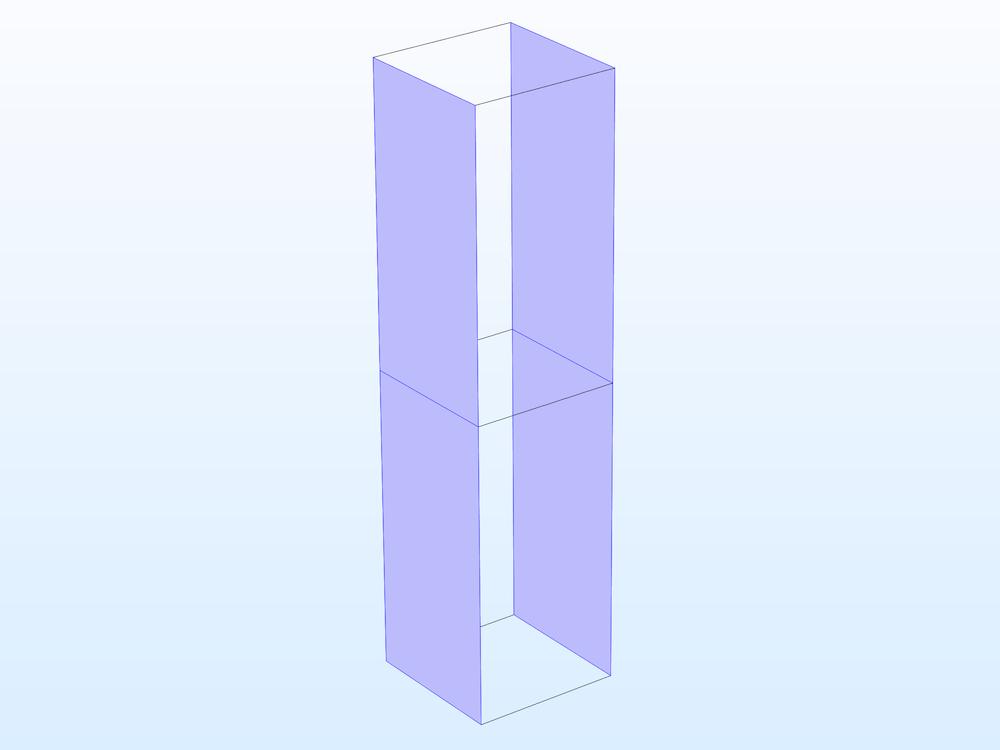 在壁上使用周期性边界条件的单个单元。