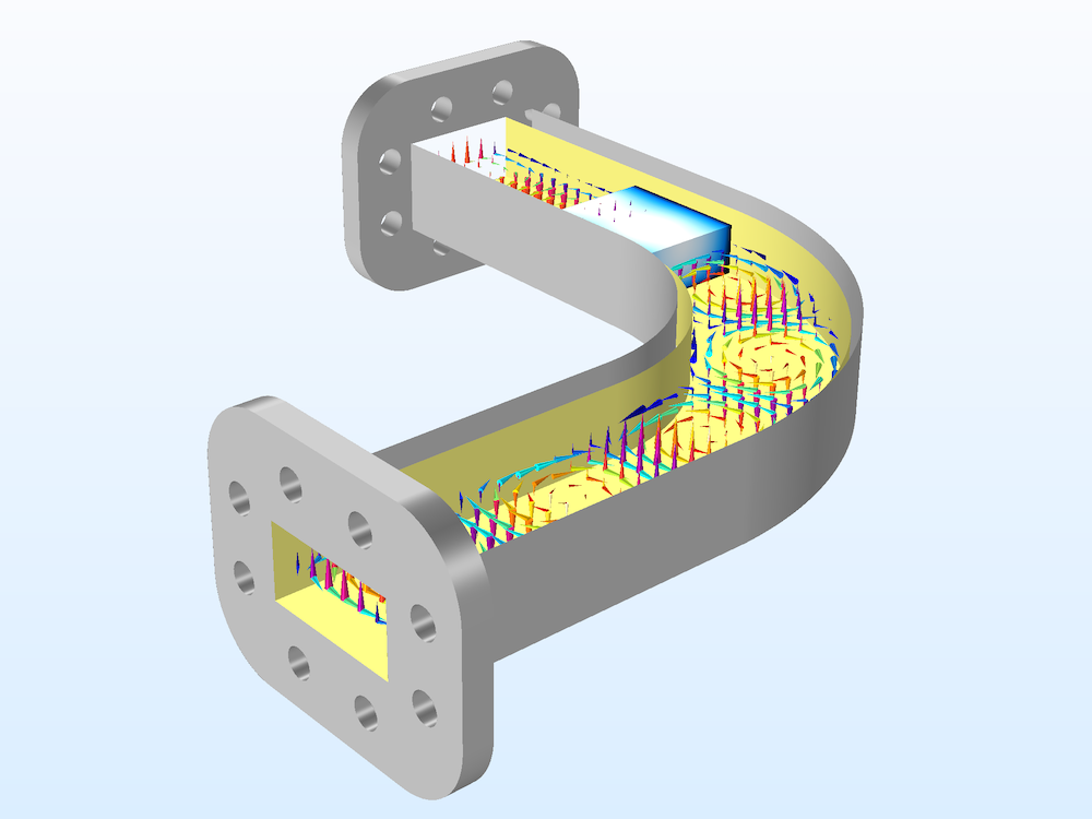 An image of an RF heating model with two multiphysics studies.
