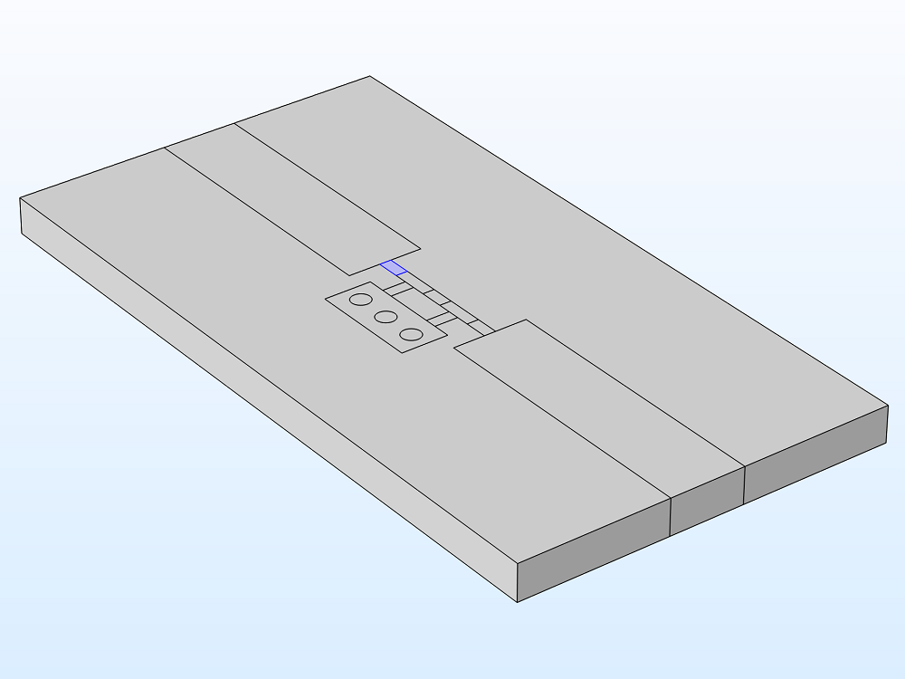 A schematic of a uniform capacitor lumped element with the boundary selection highlighted.