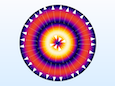 An image of mode TE02 for a circular port simulation.