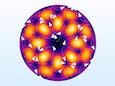 A streamline plot for mode TE42 of a circular port.