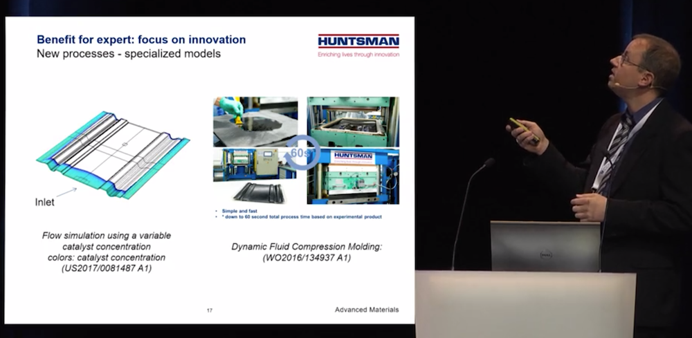 An image of Florian Klunker taken from his keynote presentation at the COMSOL Conference 2018.