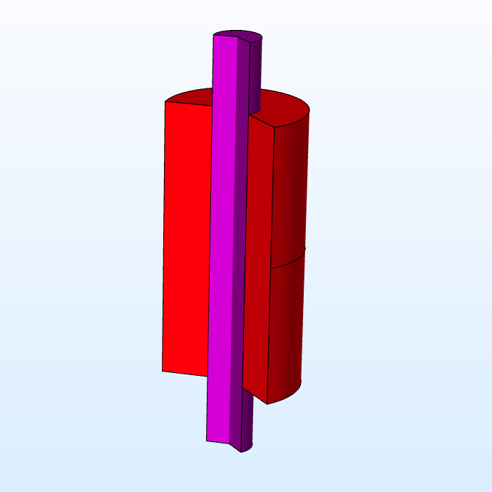 A 3D model of a nerve guide modeled in COMSOL Multiphysics®.