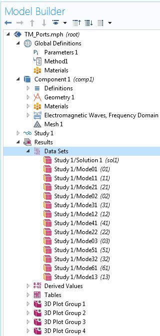 每个模式编号的解集列表