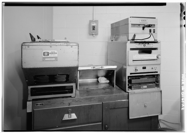 A photograph of a xerographic copier similar to the devices Esther M. Conwell researched.
