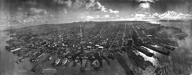 A photograph of San Francisco after the 1906 earthquake.
