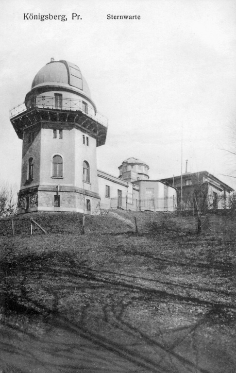A black-and-white image of the Konigsberg Observatory where Friedrich Bessel worked.