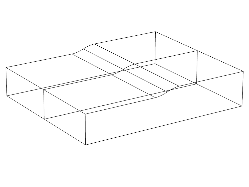 An image of the model geometry for a lubricated pad.