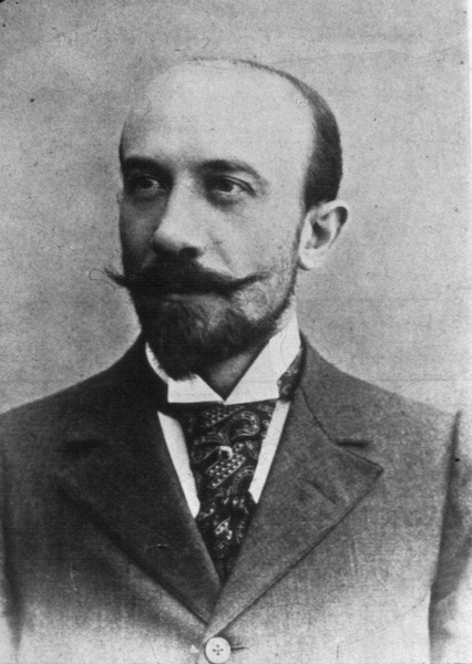 A black-and-white portrait of Georges Méliès.