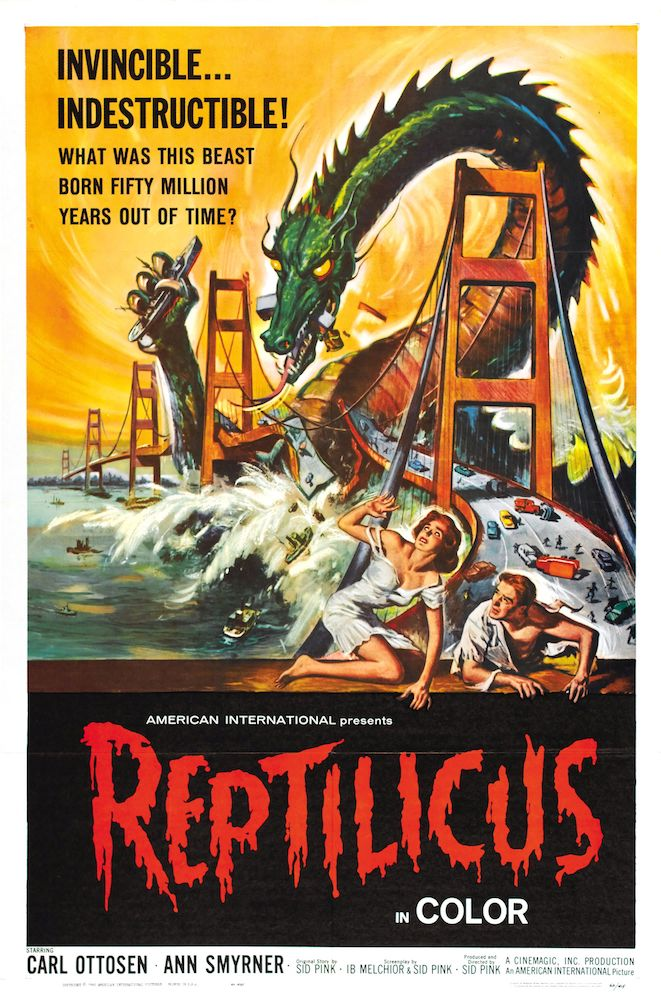 An image of a theatrical poster for a monster movie.