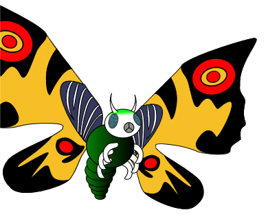 An illustration of Mothra.