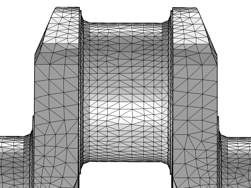 An image of the unmodified crankshaft mesh.