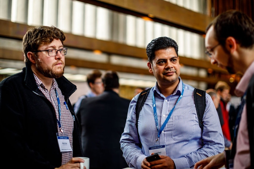A photograph of attendees at the COMSOL Conference 2019 Cambridge.