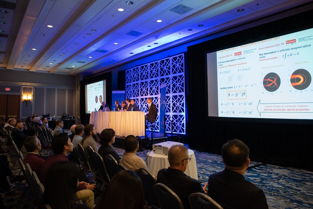 A photograph of a panel discussion from the COMSOL Conference 2019 Boston.