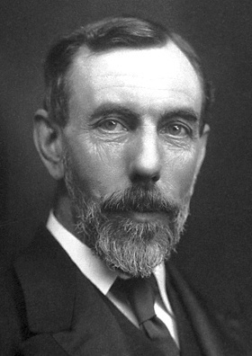 A black-and-white photograph of Sir William Ramsay.