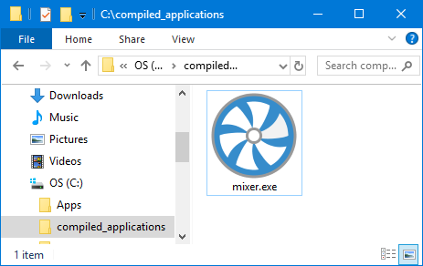 A screenshot of an icon for a compiled standalone application.