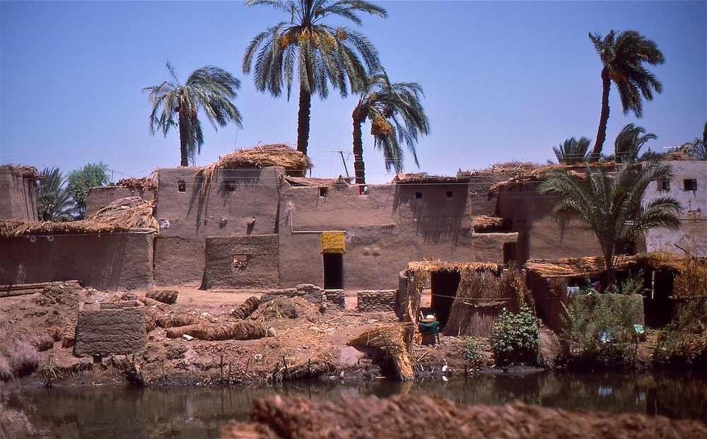 A photograph of mud brick homes in Egypt.